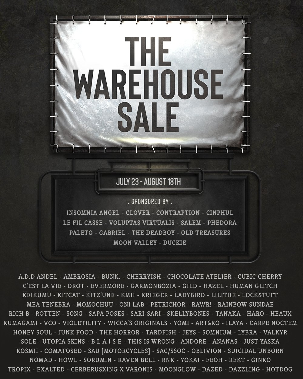 The Warehouse Sale - July 2021