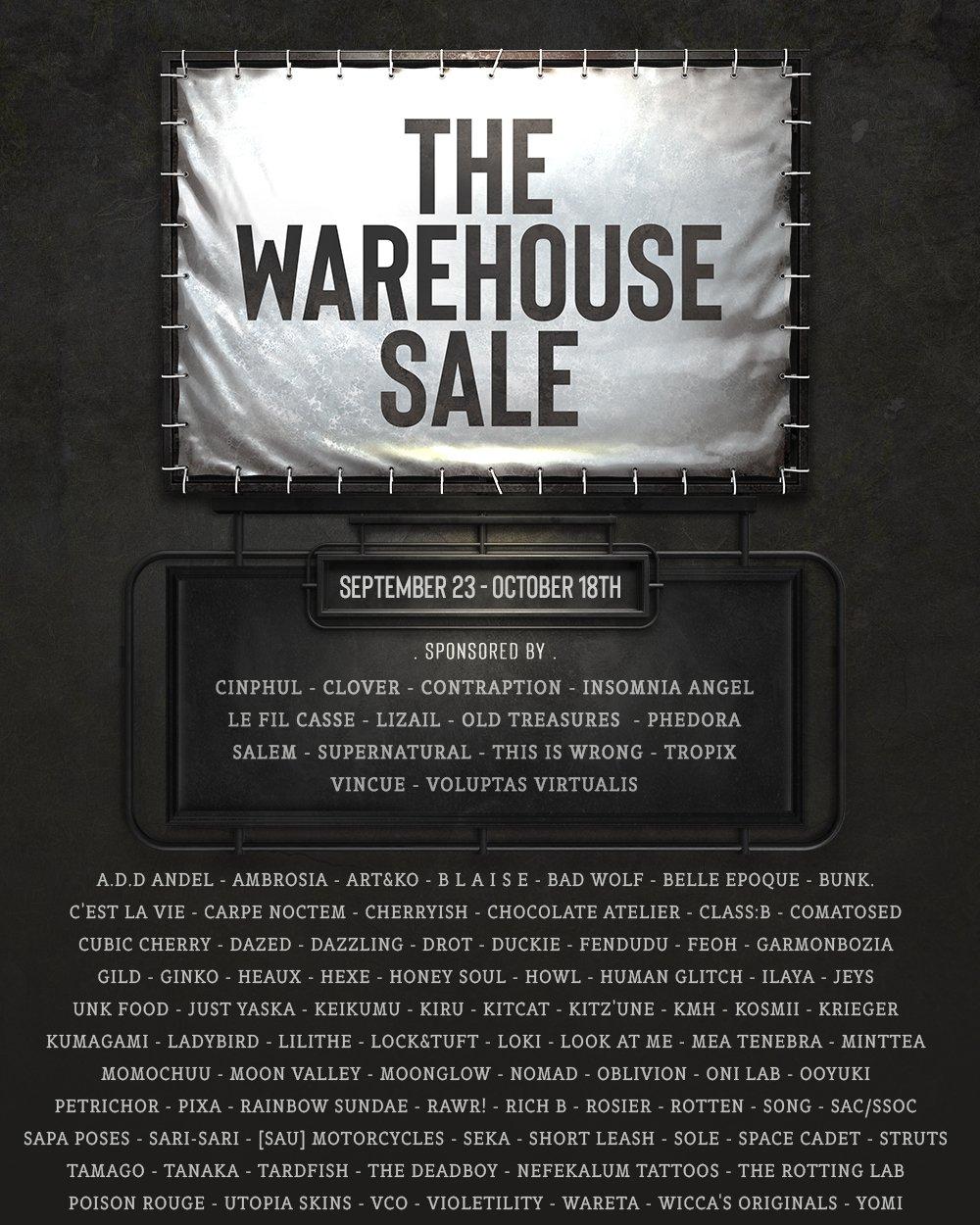 The Warehouse Sale - September 2021